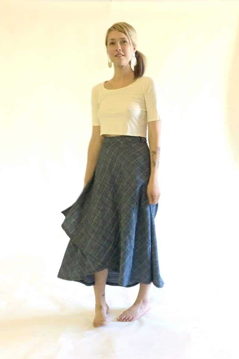 Tulip Wrap Skirt Sweet Skins Hemp